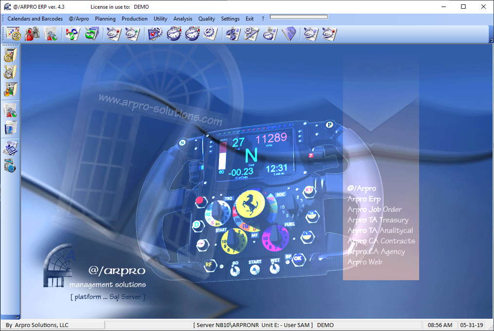 The dashboard of you business management software is like the steering wheel of your company. You can take control