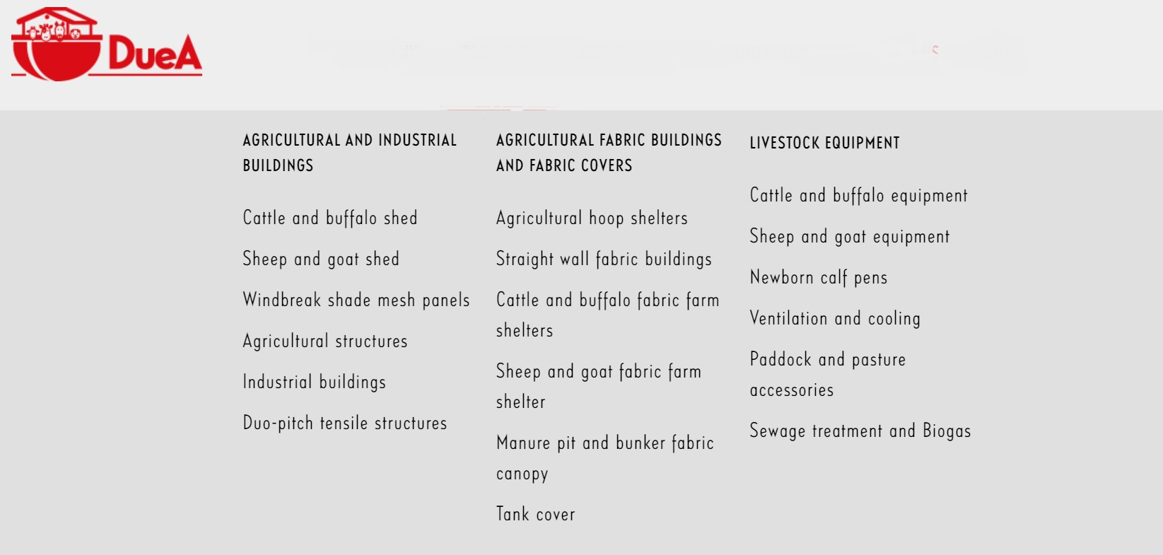 Due A Farming Structure Product List